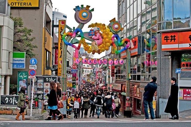 Khu mua sắm sầm uất tại Tokyo