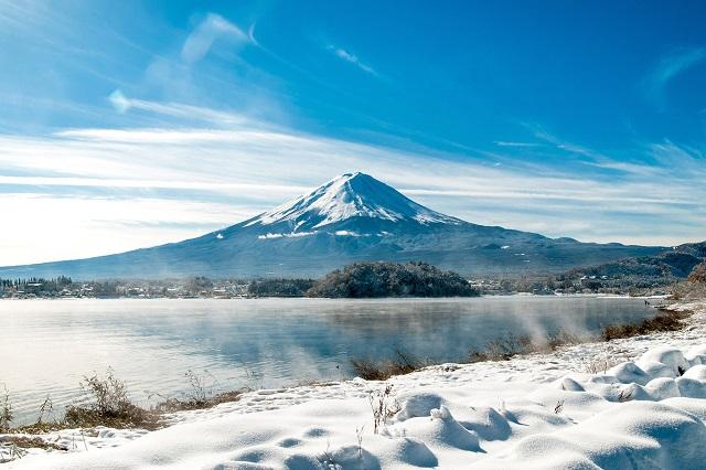 Khung cảnh kì diệu của núi Phú Sỹ khi mùa đông về