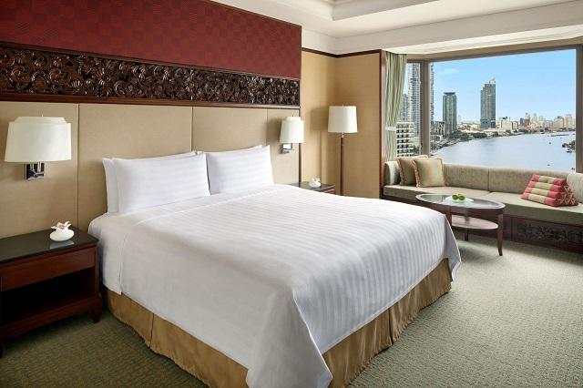 Phòng nghỉ có thiết kế đơn giản nhưng vẫn toát lên vẻ sang trọng, tiện nghi