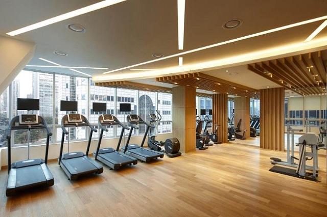 Phòng tập thể dục với đủ tiện nghi hiện đại nhất